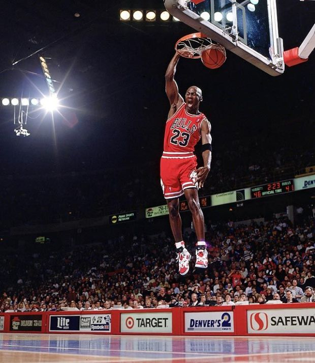 mj in the carmines dunk 5:18